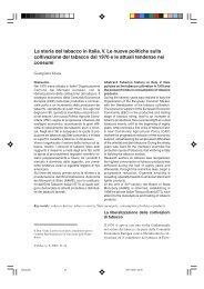 La storia del tabacco in Italia. V. Le nuove politiche sulla ... - Inea
