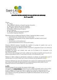 Compte rendu de l'assemblée consultative du 17 mars 2011