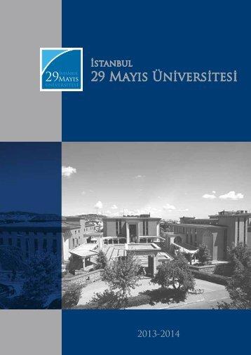 Üniversitemiz Tanıtım Kitapçığı için - TC İstanbul 29 Mayıs Üniversitesi