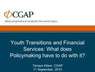 CGAP Presentation_Making Cents_24Aug2012.pdf - Youth ...
