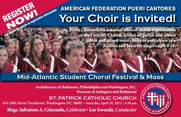 The American Federation Pueri Cantores - Pcchoirs.org