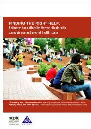 Finding the right help - National Cannabis Prevention and ...
