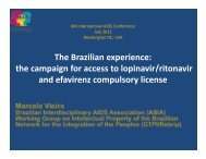 The Brazilian experience: the campaign for access to lopinavir ...