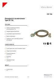 CE 134 Piezoelectric Accelerometer Type CE 134