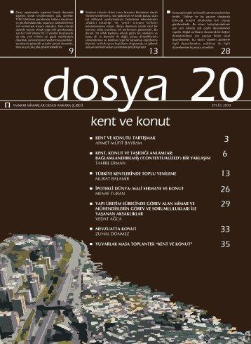 Dosya 20: kent ve konut - Mimarlar Odası Ankara Şubesi