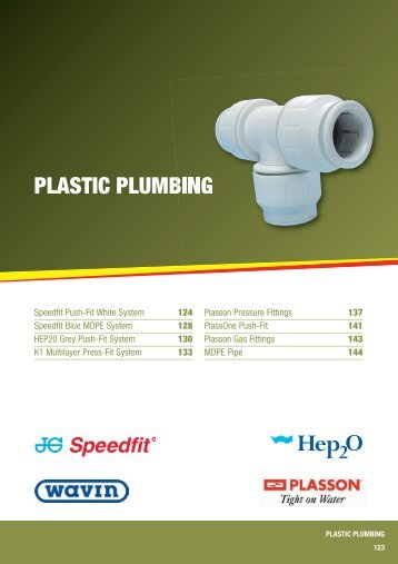 PLASTIC PLUMBING - City Plumbing Supplies