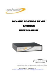 RDS/RBDS Silver encoder_US UserManual_V1.0 - Radikal