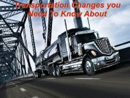 Transportation Changes you Need To Know About - NASPD