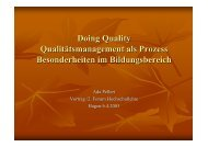 Doing Quality Qualitätsmanagement als Prozess ... - IfV NRW