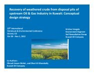 Recovery of weathered crude from disposal pits of upstream Oil - IPEC