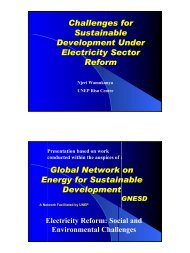 Challenges for Sustainable Development Under Electricity Sector ...