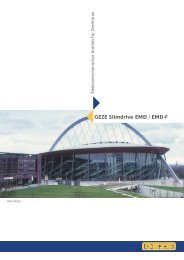 GEZE Slimdrive EMD / EMD-F - Architektur & Technik