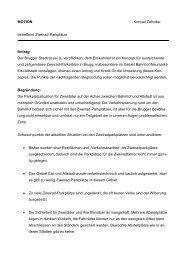 Motion Konrad Zehnder Zweirad-Parkplätze - Brugg