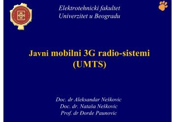 Системи треће генерације (3G) - Telfor
