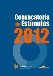 convocatoria 2012 - Ministerio de Cultura