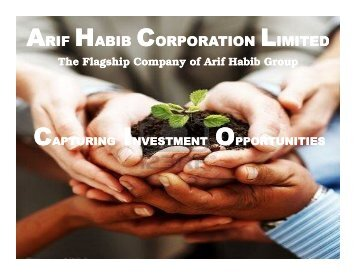 ARIF HABIB CORPORATION LIMITED - Lahore Stock Exchange