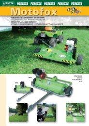 trinciaerba e arieggiatore motorizzato self propelled flail mower and ...