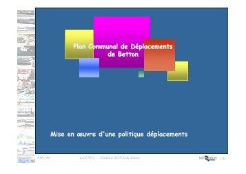 Plan Communal de Déplacements - Ville de Betton