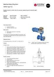 Maxifluss Rotary Plug Valve VETEC Type 72.3