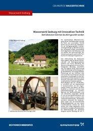 Wasserwerk Seeburg mit innovativer Technik - Grundfos