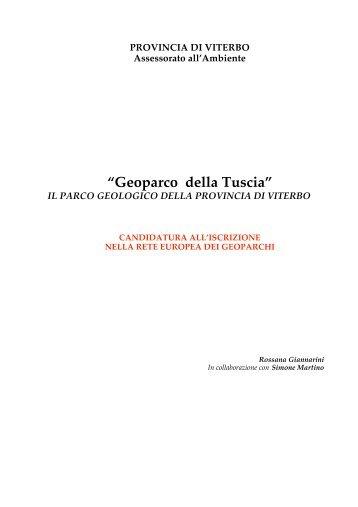 Presentazione del progetto Geoparco - Provincia di Viterbo