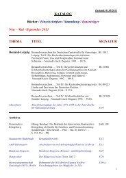 KATALOG Bücher / Einzelschriften / Sammlung / Datenträger Neu ...