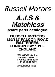 spare parts catalogue RUSSELL MOTORS 125/127 FALCON ROAD ...