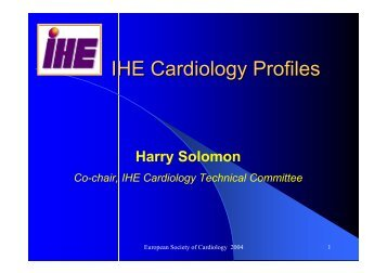 IHE Cardiology Profiles