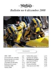 Bulletin no 6 décembre 2008 - Pourlesyeux.ch