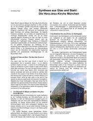 Synthese aus Glas und Stahl : Die Herz Jesu ... - a-hagl-ingenieure