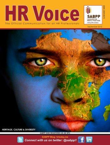 HR Voice September 2013 Download - SABPP
