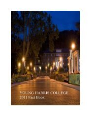 YOUNG HARRIS COLLEGE 2011 Fact Book