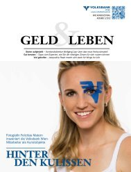 HINTER DEN KULISSEN - Volksbank Wien AG