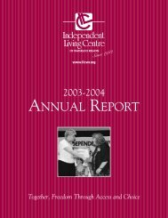 Annual Report 2003-2004 - Independent Living Centre of Waterloo ...