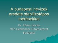 A budapesti hévizek eredete stabilizotópos mérésekkel