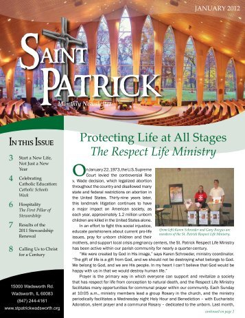 Monthly Newsletter - St. Patrick Parish