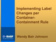 Wendy Bair-Johnson, BASF - The Pesticide Stewardship Alliance ...
