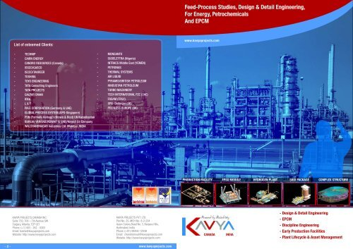 Feed-Process Studies, Design & Detail Engineering, For - kavya
