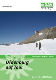 Oldenburg auf Tour - DAV Sektion Oldenburg
