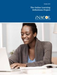 The Online Learning Definitions Project - iNACOL