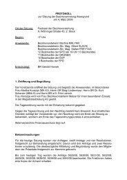 TAGESORDNUNG zur Sitzung der Bezirksvertretung Alsergrund