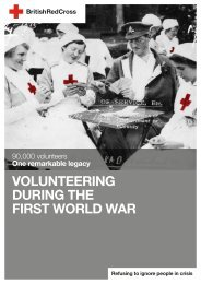 Volunteering during the First World War