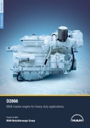 MAN marine engine for heavy duty applications.