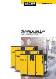 Centrales de vide à vis Séries ASV/BSV/CSV - Kaeser