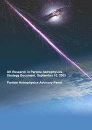 UK Research in Particle Astrophysics Strategy Document, September