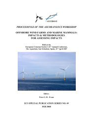 offshore wind farms and marine mammals: impacts & methodologies ...