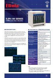 E-PR-100 Series Paperless Recorders - Elimko