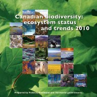 Canadian biodiversity: ecosystem status and trends 2010 - Prairie ...
