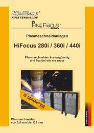 Prospekt HiFocus 280i/360i/440i - Kjellberg Finsterwalde