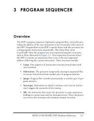 ADSP-21160 SHARC DSP Hardware Reference, Program Sequencer